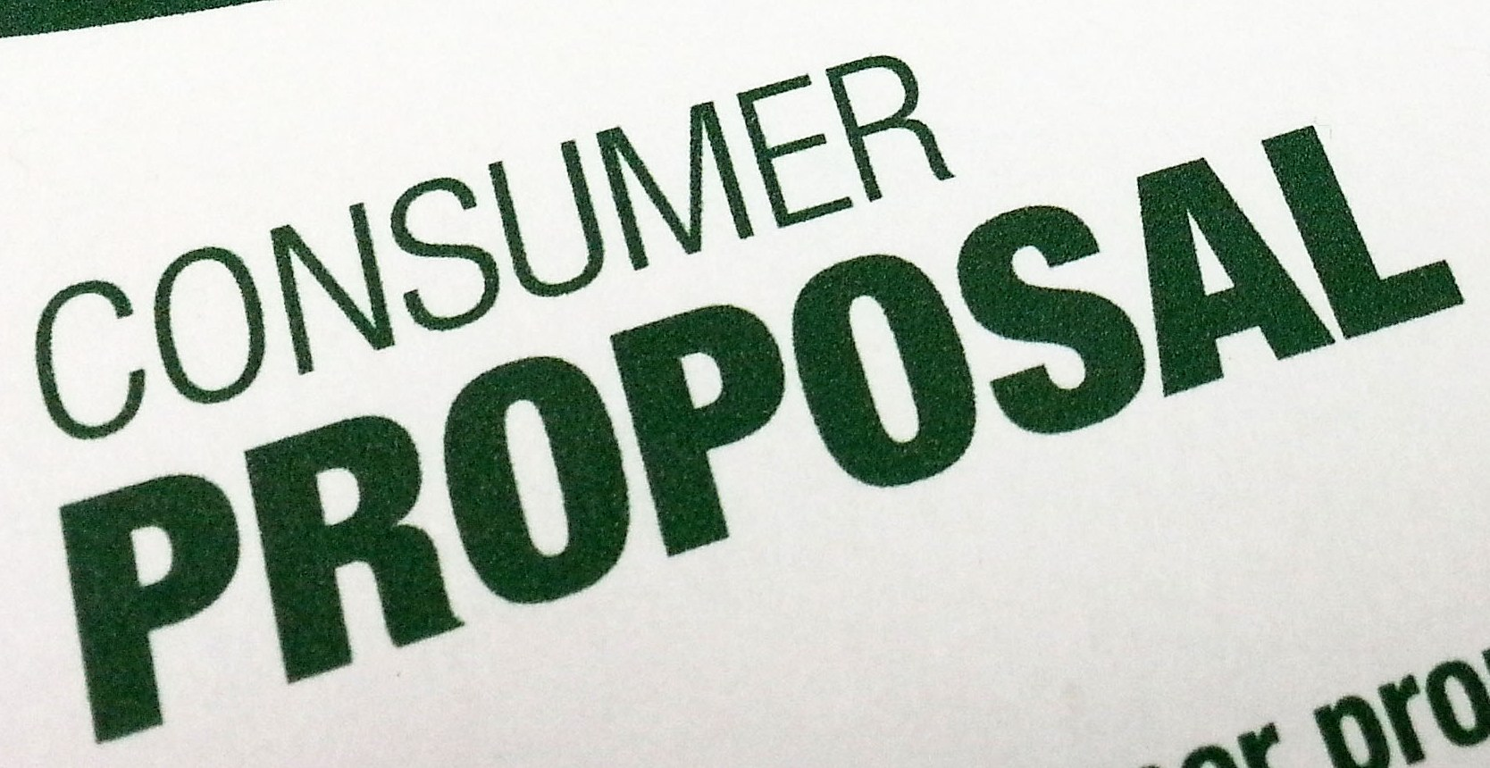 What is a Consumer Proposal?
